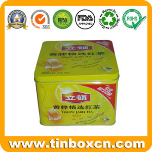Square Food Tin Boxes Packaging, Biscuit Tin Cans, Cookie Tins pictures & photos