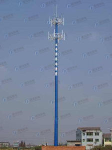 Hot-dip Galvanized Monopole Communication Tower