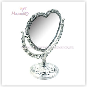 Heart-Shape Bathroom Cosmetic Glass Plastic Decorative Mirror pictures & photos