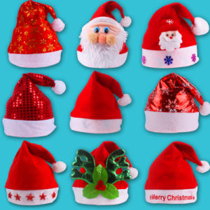 Decoration Supplies Wholesale New Design Santa Christmas Hat