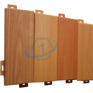 Wooden Color Aluminum Cladding Panels for Building Material pictures & photos
