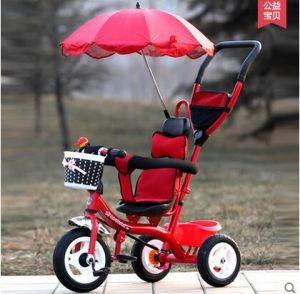 2016 Hot Baby Tricycle with Beach Umbrella in Blue, Pink, Red pictures & photos