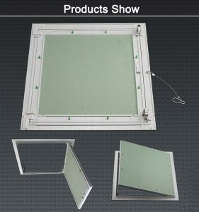 Gypsum Aluminum Access Panel for Ceiling Building Materials Waterproof with Touch Lock and safety Wire pictures & photos