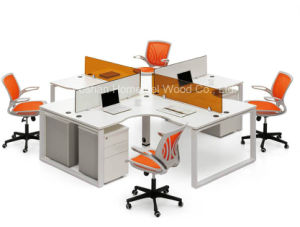 Cross Design Office Furniture Cubicle Workstation with Mobile Pedestal (HF-BSD003) pictures & photos