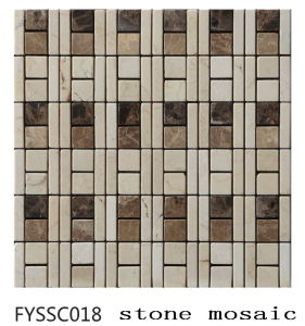 European Style Mixed Color Marble Mosaic Stone Tile for Building Material (FYSSC018)