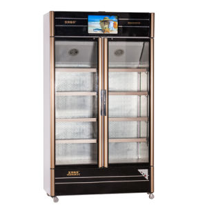 680L Two Opening Glass Doors Multimedia Showcase with LED Screen