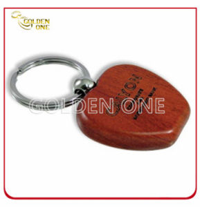 Laser Engraving Logo Apple Shape Wooden Key Ring pictures & photos