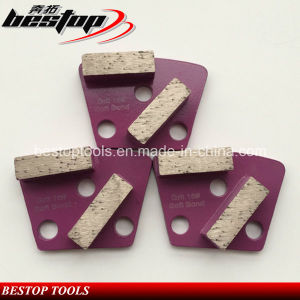 16# Rough Grit Soft Bond Concrete Trapezoid Grinding Block pictures & photos