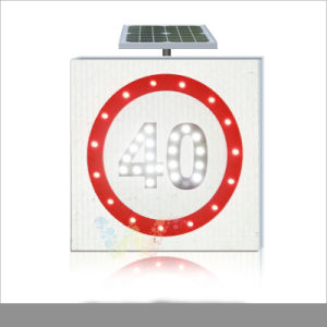Road Safety LED Traffic Aluminum Solar Speed Limit Sign pictures & photos