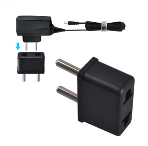 Black White Us /Au to EU 4.0mm 4.8mm Travel Converter AC Power Plug Power Charger Adapter Plug pictures & photos