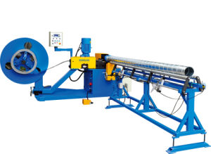 Spiral Duct Machine with Strip Steel Model and Fixed Model