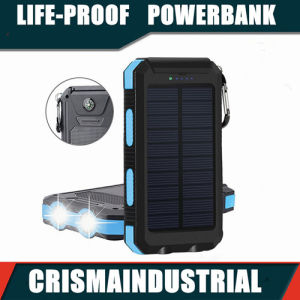 best sneakers 5eb1a ac0fb 20000 mAh Portable Power Bank Solar Power Bank Waterproof Portable Solar  Powerbank External Battery with Carabiner Retail Package