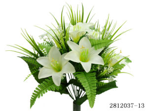 Artificial/Plastic/Silk Flower Lily Bush (2812037-13) pictures & photos