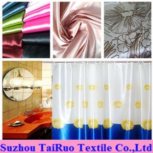 100% Polyester Printed Satin for Home Bath Curtain Fabric pictures & photos