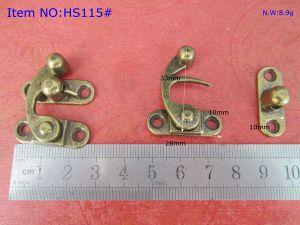 china factory supply antique brass color zinc alloy box locks