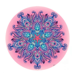 140cm Diameter Pink Mandala Custom Private Label Round Circular Yoga Mat