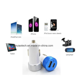 New Mini Dual USB Car Cigarette Lighter Charger with 18W Pd Type-C and 2.4A Output USB Adapter for Mobile Phone Charger, Car Camera, GPS, Tracker Battery Supply