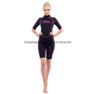 Women`S Shorty Neoprene Wetsuit with Black Nylon Both Sides (HX-L0454) pictures & photos