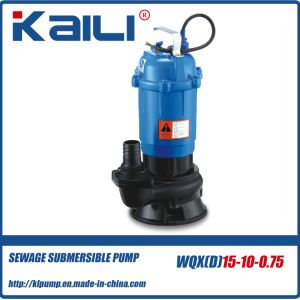 WQX Sewage Submersible Water Pump (WQXD15-10-0.75) pictures & photos