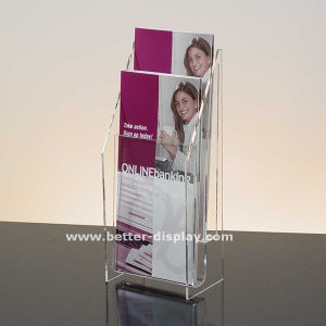 Clear Acrylic 6 Pockets Brochure A6 Stand pictures & photos
