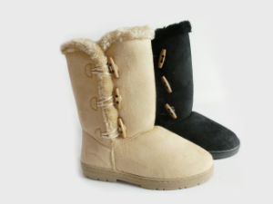 Ladies New Warm Soft Outdoor Snow Boots with Lambswool pictures & photos