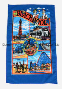 Personalized Custom Printed Microfiber Cloth Kitchen Tea Cleaning Towel pictures & photos