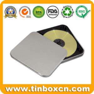 Square CD Tin Case with Zipper, Metal Tin DVD Box pictures & photos