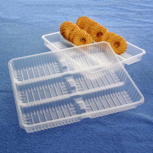 OEM disposable plastic sushi/cakies/biscuit snack blister tray(PP tray) pictures & photos