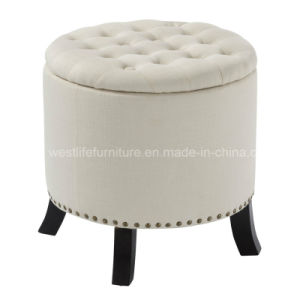 Tremendous Round Fabric Buttoned Storage Ottoman Wh6019 Caraccident5 Cool Chair Designs And Ideas Caraccident5Info