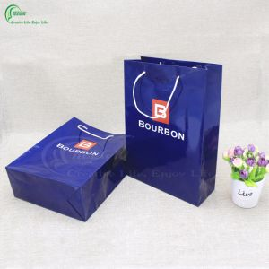 Hot Sale Fashion Custom Shopping Paper Bag with Handle (KG-PB072)