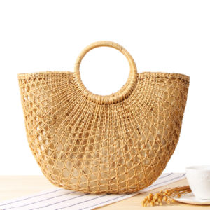 woven straw beach bag