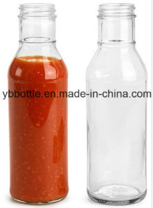 Neck Ring Chili Sauce Glass Bottles with Plastic Cap