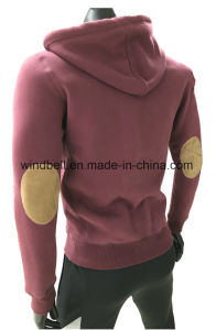 High Quality Plain Full Zip Hoody for Men with Sherpa Inside pictures & photos