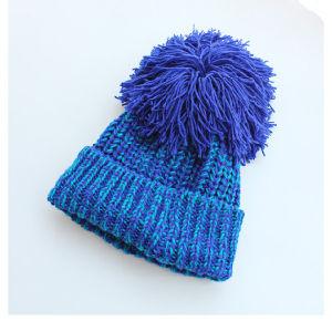 68b7eb6617c China Winter Warm Womens Beanie Cable Knit Big POM POM Crochet Hat ...