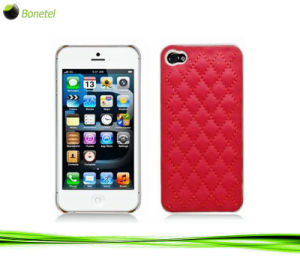 Fashion Inspired Luxury Quilted Case and Screen Protector for iPhone 5 -Red