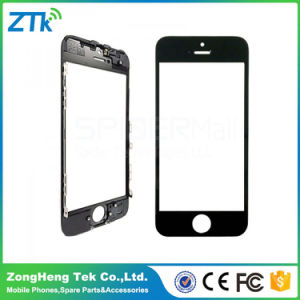Phone Front Screen Glass with Frame for iPhone 5s Black