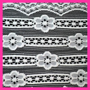 Fashion Nylon Wave Lace Fabric 84 pictures & photos