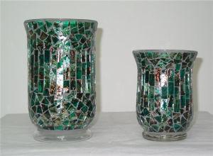 China Decorative Glass Mosaic Hurricane, Decorative Glass Hurricane Lamps