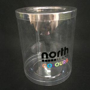 OEM cylinder plastic packaging box (transparent clear tube) pictures & photos
