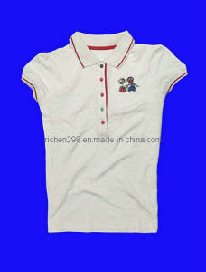 Women′s Polo Cotton T Shirt