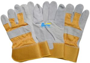 Cow Split Palm Leather Work Gloves (BGCL207)