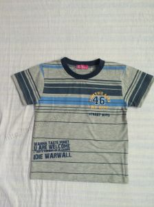 Manufacturer Strip Boy T-Shirt in Popular Children Clothing Sq-6281