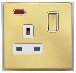 Screwless Range Single Switched Socket with Neon pictures & photos