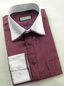 Men Stripe Leisure Shirts Dress Shirt