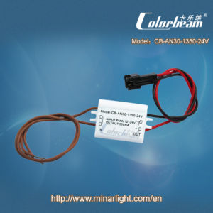 LED PWM Constant Current Driver, Input PWM 12-24V, 350mA *3CH, Plastic Case (CB-AN30-3350-24V)
