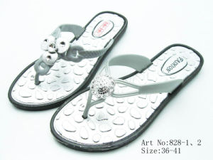 Ladies′ PVC Slipper (828)