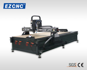 Ezletter Ce Approved Precision and Stable Helical Rack Advertisement Engraving CNC Router (MW-1530 ATC)