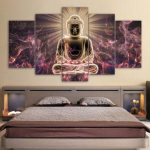 china high definition buddha painting oil painting art printing