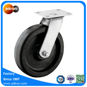 "8"" Rubber Wheels Rigid & Swivel Caster Wheels Kit pictures & photos"