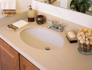Acrylic Solid Surface Bathroom Vanity Top pictures & photos